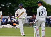 June 12th 2017, Trafalgar Road Ground, Southport, England; Specsavers County Championship Division One Day Four; Lancashire versus Middlesex;  Haseeb Hameed runs between the wickets during the second Lancashire innings; Middlesex were all out this morning and set Lancashire a target of 108 to win the match