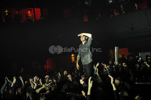 LONDON, ENGLAND - DECEMBER 5: Maciek Ofstad of 'Kvelertak' performing at Electric Ballroom , Camden on December 5, 2016 in London, England.<br /> CAP/MAR<br /> ©MAR/Capital Pictures /MediaPunch ***NORTH AND SOUTH AMERICAS ONLY***