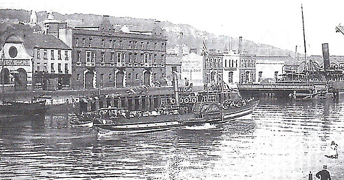 Cork Harbour Paddle Steamer in the Port of Cork