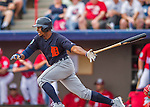 5 March 2016: Detroit Tigers outfielder Wynton Bernard in action during a Spring Training pre-season game against the Washington Nationals at Space Coast Stadium in Viera, Florida. The Tigers fell to the Nationals 8-4 in Grapefruit League play. Mandatory Credit: Ed Wolfstein Photo *** RAW (NEF) Image File Available ***