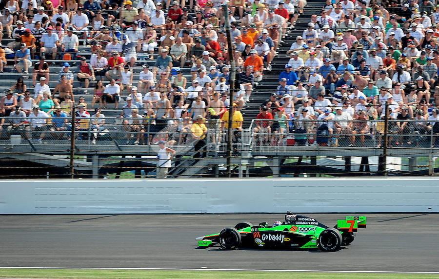 May 30, 2010; Indianapolis, IN, USA; IndyCar Series driver Danica Patrick (7) during the Indianapolis 500 at the Indianapolis Motor Speedway. Mandatory Credit: Mark J. Rebilas-