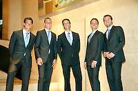 4-3-09,Argentina, Buenos Aires, Daviscup  Argentina-Netherlands, Het team in costuum, vlnr:Jesse Huta Galung, Thiemo de Bakker, Rogier Wassen,Matwe Middelkoop en Michel de Koning