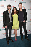 Dave Haywood, Hillary Scott, and Charles Kelly of Lady Antebellum arrives at the US Open Player Party at The Empire Hotel, August 27, 2010.