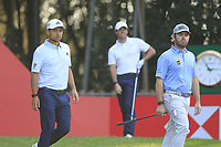 Xander Schauffele (USA) and Louis Oosthuizen (RSA) walk by Rory McIlroy (NIR) on the 17th tee during the final round of the WGC HSBC Champions, Sheshan Golf Club, Shanghai, China. 03/11/2019.<br /> Picture Fran Caffrey / Golffile.ie<br /> <br /> All photo usage must carry mandatory copyright credit (© Golffile | Fran Caffrey)