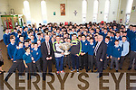 Kerry Star Shane Enright  with the Sam Maguire cup arrived at St Michael's College, Listowel  on Tuesday.