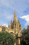 Spire of Saint Mary the Virgin church, Oxford, England, UK