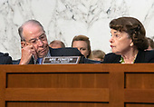 "United States Senator Chuck Grassley (Republican of Iowa), chairman, left, listens as US Senator Dianne Feinstein (Democrat of California), ranking member, joins in the debate about the release of documents designated ""committee confidential"" prior to the US Senate Judiciary Committee beginning the third day of testimony from Judge Brett Kavanaugh on his nomination as Associate Justice of the US Supreme Court to replace the retiring Justice Anthony Kennedy on Capitol Hill in Washington, DC on Thursday, September 6, 2018.<br /> Credit: Ron Sachs / CNP<br /> (RESTRICTION: NO New York or New Jersey Newspapers or newspapers within a 75 mile radius of New York City)"