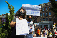 NEW YORK, NEW YORK - MAY 30: Protesters take part during a protest against police in response to the police officer who killed George Floyd in Brooklyn on May 30, 2020 in New York. protests spread nationwide in at least 30 US cities over the death of unarmed black man George Floyd at the hands of a police (Photo by Pablo Monsalve/ VIEWpress via Getty Images)