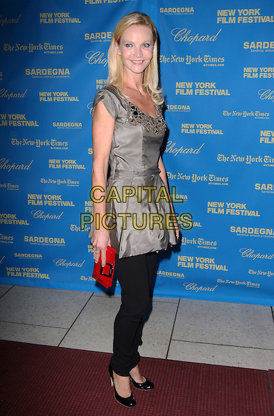 """JOAN ALLEN .""""The Class"""" - 46th New York Film Festival Premiere held at Avery Fisher Hall,  New York New York, USA, .26 September 2008..full length grey gray top tunic black trousers jeans green red purse clutch bag .CAP/ADM/PZ.©Paul Zimmerman/Admedia/Capital Pictures"""