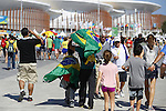 Fans, Olympic : AUGUST 13, 2016 - : Many fans visited the Olympic Park during the Rio 2016 Olympic Games in Rio de Janeiro, Brazil. (Photo by Yusuke Nakanishi/AFLO SPORT)
