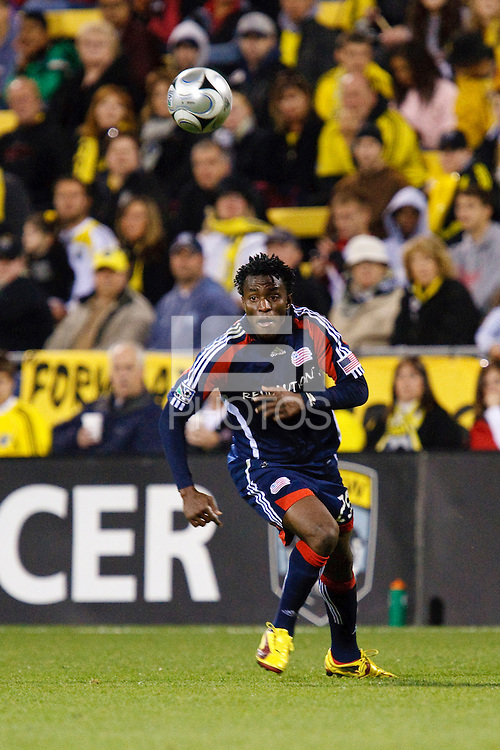 25 OCTOBER 2009:   Kenny Mansally of the New England Revolution (29) during the New England Revolution at Columbus Crew MLS game in Columbus, Ohio on October 25, 2009.