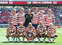 Sandy, Utah - June 30, 2012: USA Women's National Team vs Canada at Rio Tinto Stadium.