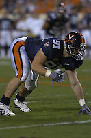 24 September 2005:  Chris Long..The Virginia Cavaliers upset the #4 Florida State Seminoles 26-21 at Scott Stadium in Charlottesville, VA.