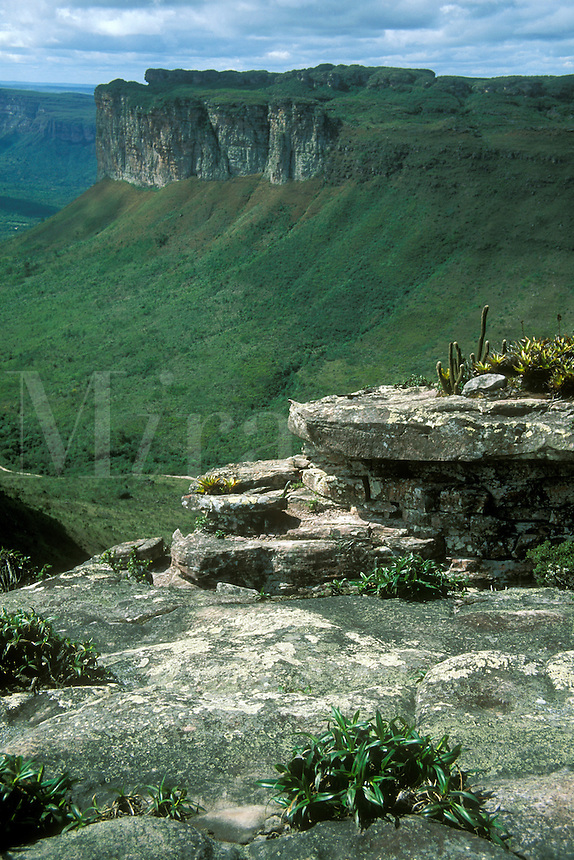 Tablelands of Chapada Diamantina, State of Bahia, Brazil, seen from Morro do Pai Inacio