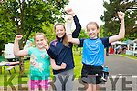 Aoife Barrett, Caragh O'Neill and Sarah Barrett at the Run in the Park on Saturday