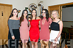 Clíona Hayes, Manor Tralee, celebrating her 21st birthday with friends at Kerins O'Rahillys Club House on Saturday Pictured Rachel Walsh, Clara Heimliche, Clíona Hayes, Emer Dolan and Aoife Garvey