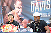 Floyd Mayweather Jr &amp; Frank Warren press conference at The Savoy Hotel, London, Great Britain <br /> 7th March 2017 <br /> <br /> <br /> <br /> <br /> Gervonta Davis <br /> (an American professional boxer who has held the IBF junior lightweight title since January 2017)<br /> <br /> Floyd Joy Mayweather Jr. is an American former professional boxer who competed from 1996 to 2015 and currently works as a boxing promoter. <br /> <br /> <br /> <br /> Photograph by Elliott Franks <br /> Image licensed to Elliott Franks Photography Services