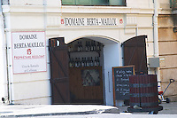 Wine shop.  Domaine Berta Maillol. Banyuls sur Mer, Roussillon, France