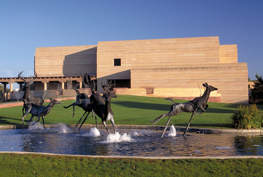 The Eiteljorg Museum of American Indian and Western Art features two major collections - Native American artifacts; and, paintings and sculpture depicting the American West. Indianapolis Indiana.