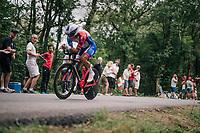 Arthur Vichot (FRA/Groupama-FDJ)<br /> <br /> Stage 20 (ITT): Saint-P&eacute;e-sur-Nivelle &gt;  Espelette (31km)<br /> <br /> 105th Tour de France 2018<br /> &copy;kramon