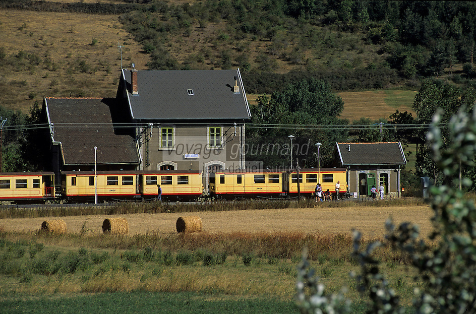 Europe/France/Languedoc-Roussillon/66/Pyrénées-Orientales/Saillagouse : Le petit train jaune de Cerdagne