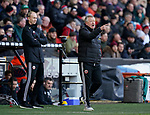 Chris Wilder manager of Sheffield Utd and Alan Knill Assistant manager of Sheffield Utd  during the Premier League match at Bramall Lane, Sheffield. Picture date: 9th February 2020. Picture credit should read: Simon Bellis/Sportimage