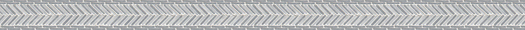 """2 1/4"""" Gingham border, a hand-cut tumbled mosaic shown in Bardiglio and Calacatta, is part of the Tissé® collection for New Ravenna."""