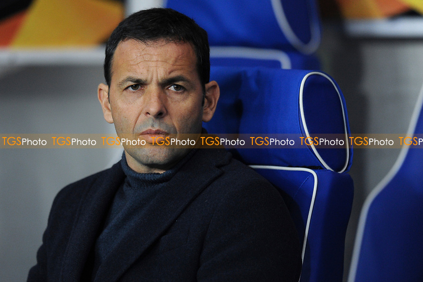 Villarreal CF manager Javier Calleja during Rangers vs Villarreal CF, UEFA Europa League Football at Ibrox Stadium on 29th November 2018