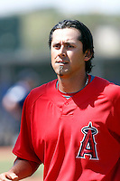 Freddy Sandoval - Los Angeles Angels - 2009 spring training.Photo by:  Bill Mitchell/Four Seam Images