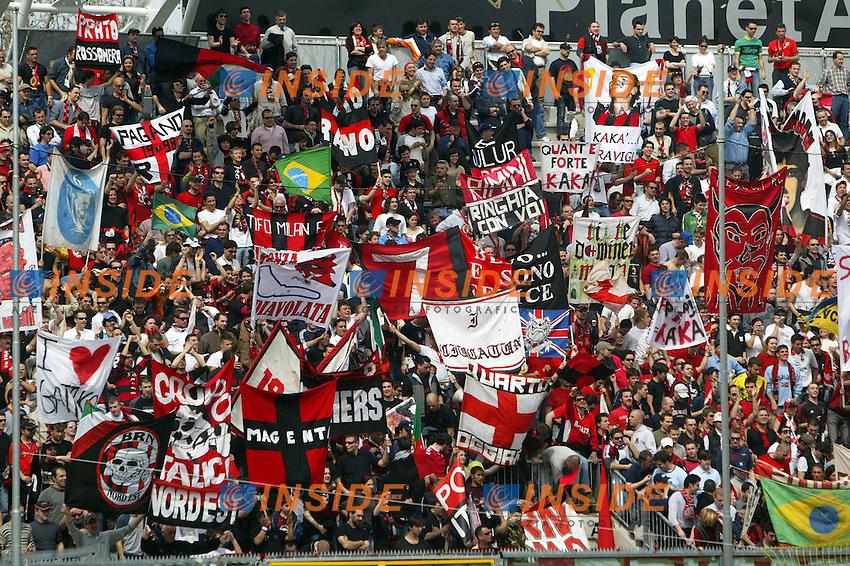 Modena 4/4/2004 Campionato Italiano Serie A 28a Giornata - Matchday 28<br /> Modena Milan 1-1<br /> Tifosi del Milan<br /> Foto Andrea Staccioli Insidefoto