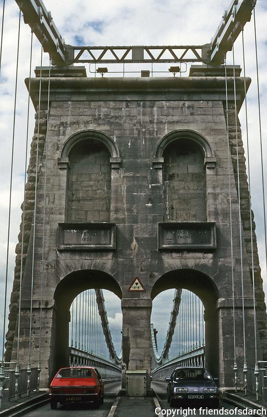 Technology: Thomas Telford Menai Road Bridge, 1818-1826. Photo '90.