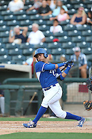 Cristhian Vasquez (44) of the AZL Royals bats during a game against the AZL Mariners at Surprise Stadium on July 4, 2015 in Surprise, Arizona. Mariners defeated the Royals, 7-4. (Larry Goren/Four Seam Images)