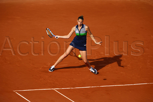 5th June 2017, Roland Garros, Paris, France; French Open tennis championships;  KAROLINA PLISKOVA (CZE)  during day nine match of the 2017 French Open on June 5, 2017, at Stade Roland-Garros in Paris, France.