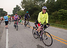 August 16, 2017; Pilgrims set out on bikes for day 3 of ND Trail. They biked 23.2 miles and walked 7.8 from Pimento to Bridgeton. As part of the University's 175th anniversary celebration, the Notre Dame Trail will commemorate Father Sorin and the Holy Cross Brothers' journey. A small group of pilgrims will make the entire 300+ mile journey from Vincennes to Notre Dame over  two weeks.(Photo by Barbara Johnston/University of Notre Dame)