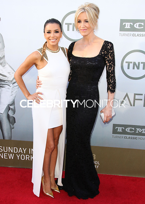 HOLLYWOOD, LOS ANGELES, CA, USA - JUNE 05: Eva Longoria, Felicity Huffman at the 42nd AFI Life Achievement Award Honoring Jane Fonda held at the Dolby Theatre on June 5, 2014 in Hollywood, Los Angeles, California, United States. (Photo by Xavier Collin/Celebrity Monitor)