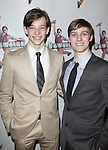 Mike Faist & Brendon Stimson.attending the 'NEWSIES' Opening Night after Party at the Nederlander Theatre in New York on 3/29/2012