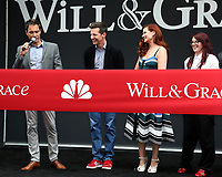 """LOS ANGELES - AUG 2:  Eric McCormack, Sean Hayes, Debra Messing, Megan Mullally at the """"Will & Grace"""" Start of Production Kick Off Event at the Universal Studios on August 2, 2017 in Universal City, CA"""