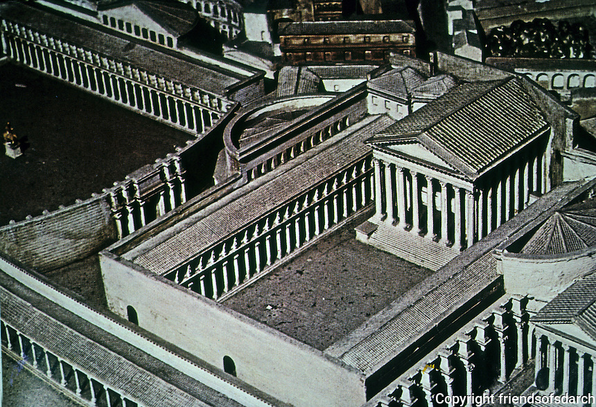Italy: Rome--Model, The Forum of Augustus--Temple of Mars Ultor. Photo '84.