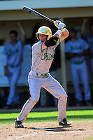 Cavan Biggio (23) of the Notre Dame Fighting Irish during a game versus the Boston College Eagles at Shea Field in Chestnut Hill, Massachusetts on May 14, 2015.  (Ken Babbitt/Four Seam Images)