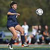 Morgan Camarda #6 of Massapequa tries to gain possession during the Nassau County varsity girls soccer Class AA final against Calhoun at Cold Spring Harbor High School on Friday, Nov. 3, 2017. She scored in the second half of overtime to lead Massapequa to a 1-0 win.