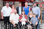 Cameron Calder, Killorglin celebrated his christening with his parents Arthur and Collete, big sister Kirsti O'Connor, god parents Brian Sheahan and Kathleen Sayers, grandparents Seamus and Bridie O'Connnor and uncle Noel O'Connor in Knightleys bar Castlemaine on Sunday