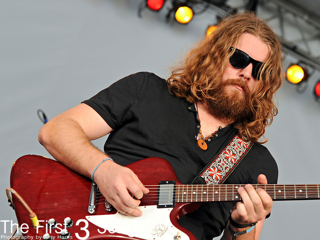 Ewan Currie of The Sheepdogs performs during Day 3 of the Voodoo Experience at City Park in New Orleans, Louisiana on October 30, 2011.