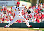 10 March 2010: St. Louis Cardinals' pitcher Ryan Franklin on the mound during a Spring Training game against the Washington Nationals at Roger Dean Stadium in Jupiter, Florida. The Cardinals defeated the Nationals 6-4 in Grapefruit League action. Mandatory Credit: Ed Wolfstein Photo