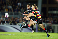 Brock James of La Rochelle and Billy Twelvetrees of Gloucester during the European Challenge Cup semi final between La Rochelle and Gloucester on April 22, 2017 in La Rochelle, France. (Photo by Vincent Michel/Icon Sport)