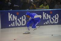 SCHAATSEN: DEVENTER: IJsstadion De Scheg, 12-10-2013, Nationale schaatswedstrijd de IJsselcup, Dai Dai Ntab, ©foto Martin de Jong