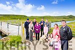 Akeragh Action Group, Members front l-r Abbie O'Connor, Milly Raggett, Margaret Raggett, Jeremiah Clifford, chairman, back l-r  Mike McCarthy, Theresa O'leary, Declan Raggett Eileen Kennelly, Paul O'Connor, Elaine O'Connor, Ashling O'Connor with dogs Mylow and Harry   at one of the 2 bridges in the Rights of Way  dispute at The Akeragh Black Rock Beach area, which are having a court review soon