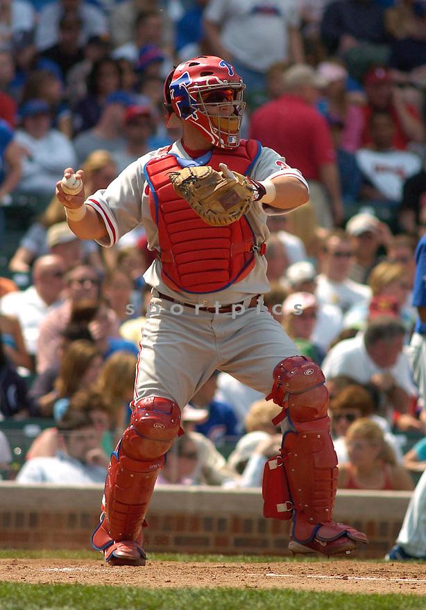 Todd Pratt of the Philadelphia Phillies during action against the Chicago Cubs...Phillies win 3-2..Chris Bernacchi / SportPics
