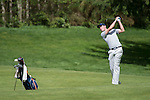 April 15, 2014; Bremerton, WA, USA; Pepperdine Waves golfer Kevin DeHuff during the WCC Golf Championships at Gold Mountain Golf Club.