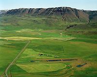 Mið-Grund séð til austurs, Grundargerði og Torfmýri í baksýni. Akrahreppur  /   Mid-Grund viewing east. Grundargerdi and Torfmýri in background.  Akrahreppur.