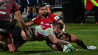 Lions try during the 2018 Super Rugby final between the Crusaders and Lions at AMI Stadium in Christchurch, New Zealand on Sunday, 29 July 2018. Photo: Joe Johnson / lintottphoto.co.nz